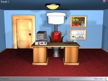 Die Schaltzentrale der Macht: Von diesem Büro aus verwaltet ihr euer Reich. (Credits: Screenshot)