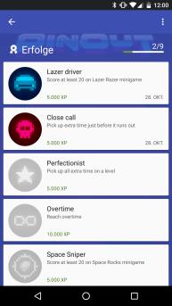 Unter Android bietet PinOut Play Games-Unterstützung und damit Erfolge und Bestenlisten. (Credits: Screenshot)